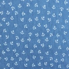 Chambray - Anchors: 100% Cotton. 140cm wide.
