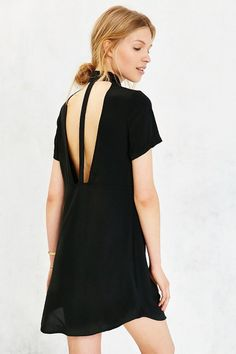 Silence + Noise Cutout Back Shirt Dress - Click the link for product details :)