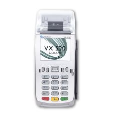 The Verifone VX 520 Colour features a color screen. This counter-top payment device marries outstanding performance with an exceptionally slim, ergonomically designed form factor. Credit Card Machine, Card Reader, Vivid Colors, Phone, Counter Top, Cards, User Experience, Communication, Desktop