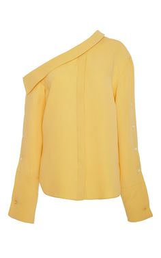 Matte Yellow Tomaso Blouse by HELLESSY Now Available on Moda Operandi