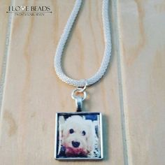 photo necklace-photo pendant necklace-personalized photo pendant-photo pendant necklace-silver necklace-my loved one picture tile-in memory