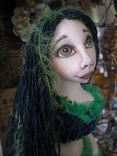 Hanging Mermaid Cloth Doll by MossyRoseCB on Etsy, $125.00