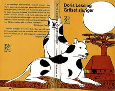 PER AHLIN Doris Lessing, Gräset sjunger (front/back), cover by Per Åhlin