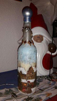 Leuchtflasche die Erste