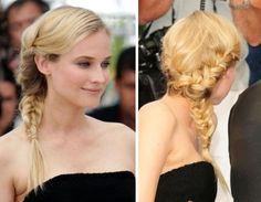 Side braid with a twist - very fresh!    (ps: it's a re-pin)