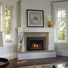 raised fireplaces | Gas Fireplace - classic, raised hearth