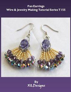 Fan Earrings Wire & Jewelry Making Tutorial T155 by XQdesigns, $3.99