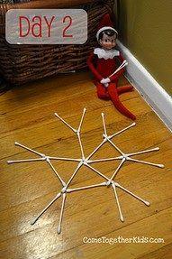 Elf on a shelf snowflake