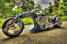Most Radical Custom Motorcycle Ever May need sidecar for my walker but will own badass bike one day...