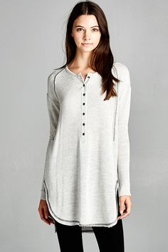 Cuddle soft henley tunic--maybe in a color? I have too many neutrals right now