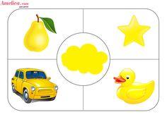 Дидактическая игра учим цвета с ребенком, игровое поле - желтый цвет Toddler Learning Activities, Montessori Activities, Color Activities, Infant Activities, Kids Learning, Preschool Colors, Teaching Colors, Maternelle Grande Section, Color Flashcards