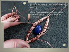 Tutorial wirewrapped pendant PDF wire wrapped by DorasAccessory