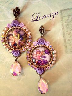 Boucles violettes Petites fées victoriennes par lorenza33 sur Etsy, $50.00