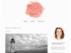 Premade Blogger Template - Blog Design