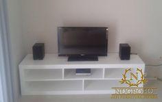 Jual Meja TV Minimalis Wooden Furniture, Pallet, Flat Screen, Home Decor, Timber Furniture, Blood Plasma, Wood Furniture, Shed Base, Decoration Home