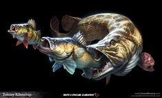 Fish illustrations that I did for a known fishing tackle brand called Savage Gear. The illustrations is being used in their brand profiling and marketing for the products. The result over the last years have been overwhelming, and fans all over the world …