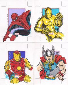 "Marvel 60's. Set de sketch cards ""Marvel 75 Years"" (Rittenhouse Archives/Marvel Comics, 2014)."