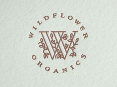 Just now got the new letterpress printed holiday cards and envelopes for Wildflower. See attached photos to view the full card and envelope, all printed with copper ink on Letra. Thanks to Ma. Logo Design Love, Art Design, Graphic Design Inspiration, Branding Design, Logo Branding, Typography Logo, Logos, Create A Brand Logo, Vine Logo
