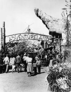 Entrance to Adventureland at Disneyland, December 1960