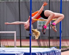 track and field high jumper