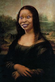 Bia Nicastro: The many faces of Monalisa - Woopy Mona Lisa