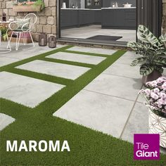 Garden Tiles, Patio Tiles, Outdoor Tiles, Outdoor Paving, Outdoor Decor, Back Gardens, Outdoor Gardens, Outdoor Porcelain Tile, Porcelain Tiles