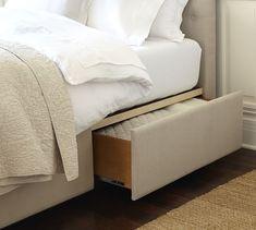 Lorraine Tufted Tall Headboard Amp Storage Platform Bed
