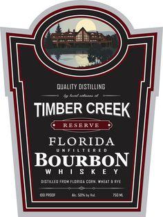 Timber Creek Distillery is introducing Floridas 1st Ever Bourbon. Timber Creek Reserve Florida Bourbon Whiskey 100 Proof