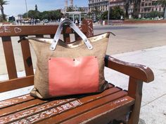 Weekender Bag fabric juta and leather by BagsbyMaCo on Etsy