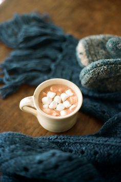 knits and hot chocolate