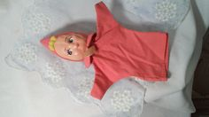 Vintage 1950's Pinkie Children's Hospital Pink Girl Hand Puppet ~ Birth Souvenir from the 50's ~ Mid Century Kitsch Collector Doll by FugitiveKatCreations on Etsy