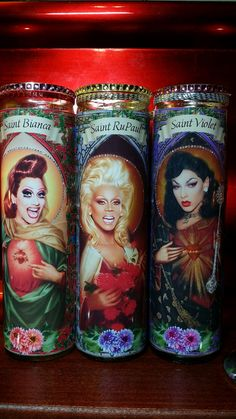 Set of 3 Blinged RuPaul Drag Race Queens: RuPaul by WantWishBuy