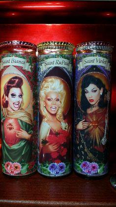 Set of 3 RuPaul Drag Race Queens: RuPaul Violet by WantWishBuy