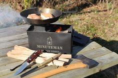 The Minuteman Rocket Stove is a high quality survival and camping stove that enables you to cook a wide variety of meals on the go with ease, click here to buy!