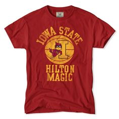 The Iowa State Hilton Magic T-Shirt is all about paying tribute to one of the best stadiums to ball in for over the last 35 years. Get yours and wear with pride.