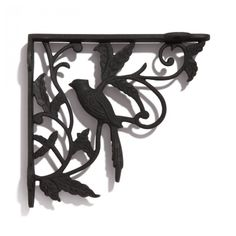 Bird and Vine Cast Iron Shelf Bracket - Shelf Brackets - Hardware
