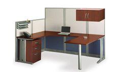 Office Cubicals w/Storage U-Station. #cubicals