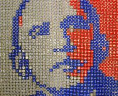 bottlecap art 14 Who knew bottle caps could serve such a grand purpose? (20 Photos)