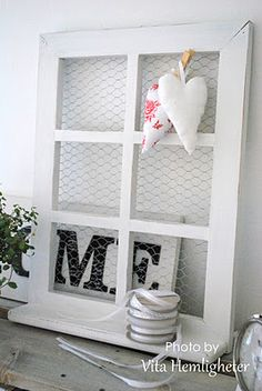 Love the window and chicken coop wire