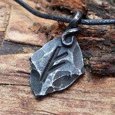 Forged Iron Ansuz Oss Rune Viking Amulet Runic Nordic Pendant Talisman Necklace by MAGICrebEL on Etsy https://www.etsy.com/listing/165345268/forged-iron-ansuz-oss-rune-viking-amulet