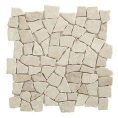Colours Single White Marble Mosaic Wall Tile (L)320 x (W)320mm, 5052931054749