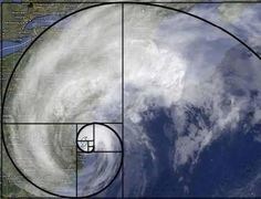 2012 After Hurricane Sandy came ashore in New Jersey on the 29th, the huge weather system was captured with an overlay to emphasize it's Fibonacci-like structure. *HT to Bob Mrotek for sending me this image