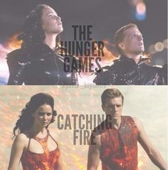 Comparing catching fire to hunger games, they look like babies in the hunger games! In catching fire they look a lot older!