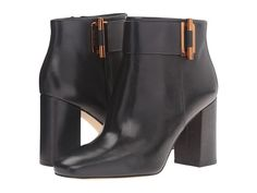MICHAEL Michael Kors Gloria Bootie Black Smooth Calf - 6pm.com