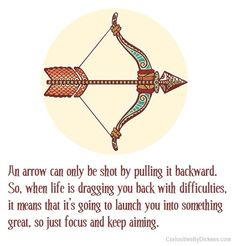 Bow in arrow quote