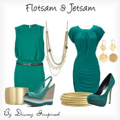 Flotsam & Jetsam - from Disney's The Little Mermaid, created by elliekayba on Polyvore