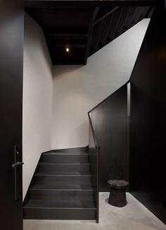 *stairways, stairs, modern interiors, black and white*