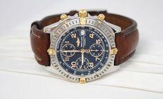#ebay #stardiamond #jewelry Breitling Leather Band Chronograph Automatic Watch B13352 On Auction!!