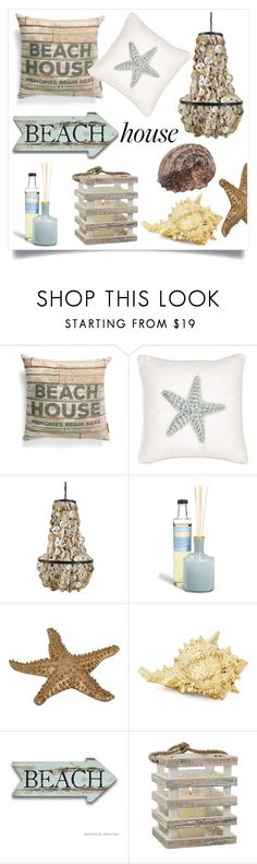 """""""Beach House"""" by tina-pieterse ❤ liked on Polyvore featuring interior, interiors, interior design, home, home decor, interior decorating, Primitives By Kathy, Harbor House, Home Decorators Collection and LAFCO"""