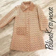 Free Crochet Patterns For 3 Winter Coats - Easy Crochet Winter Coat Ideeas (Crochet patterns) Moda Crochet, Crochet Motifs, Easy Crochet, Free Crochet, Crochet Patterns, Crochet Coat, Crochet Jacket, Crochet Cardigan, Crochet Clothes
